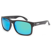 Filtrate Sink Sunglasses Black Matte/Green Mirror One Size For Men 21713618201