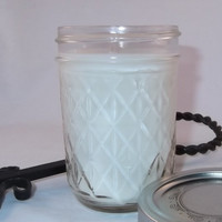 Red Velvet Cake - Soy Mason Jar Candle, Handmade Scented Soy Candle, 8oz