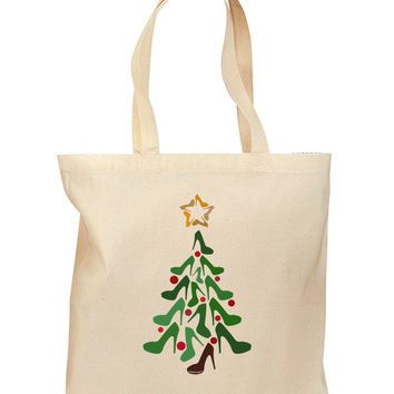 High Heels Shoes Christmas Tree Grocery Tote Bag