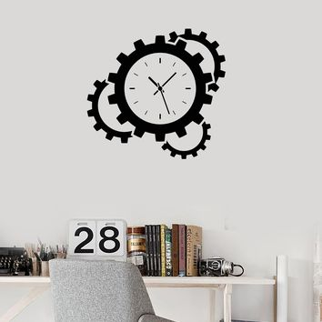 Vinyl Wall Decal Clocks Time Gears Steampunk Art Room Interior Stickers Mural (ig5925)