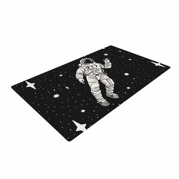 "Kess Original ""Space Adventurer"" Black Fantasy Woven Area Rug"