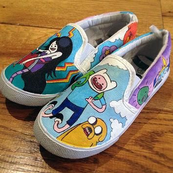 Custom Shoes Adventure Time Vans or Toms - Adults or Kids