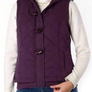 BGSD Women's Quilted Hooded Vest  canada goose women vest