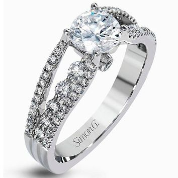Simon G. Contemporary Cathedral Tension Set Style Diamond Engagement Ring