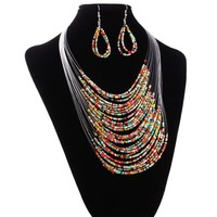 African Jewelry Set-Rope Bridal necklace earring Jewelry sets