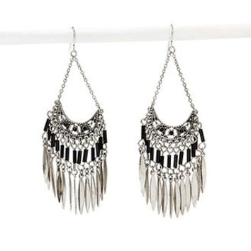 Beaded Chandelier Duster Earrings