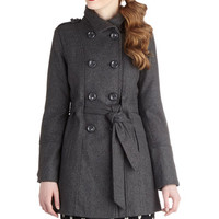 Glad Student Coat in Grey | Mod Retro Vintage Coats | ModCloth.com