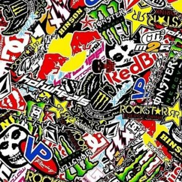 Style My Ride - JDM Dirtbike Moto Stickerbomb Vinyl Car Wrap - Stickerbombs