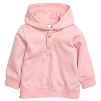 Cotton Hooded Sweatshirt - from H&M