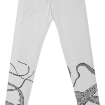 Octopus tentacles vintage kraken sea monster graphic emo goth leggings created by A PAOM Designer | Print All Over Me