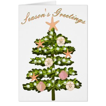 "Coastal Christmas Tree ""Season's Greetings"" Card"