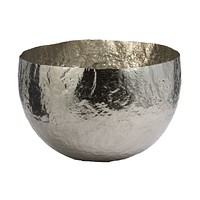 346018 Nickel Plated Hammered Brass Dish - Large