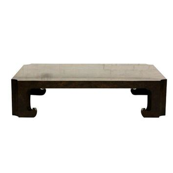 Pre-owned Baker Burled Wood Coffee Table
