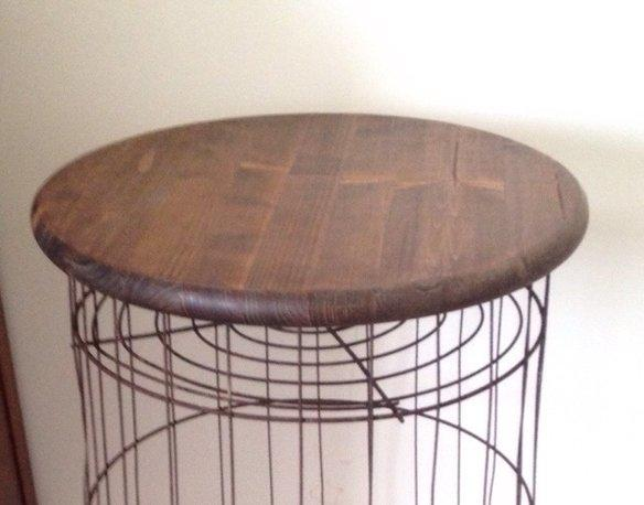 Vintage Metal Wire Laundry Basket Table From Krrb Local