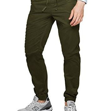 Match Men's Loose Fit Chino Washed Jogger Pant (32, 6535 Army green)