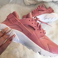:NIKE:  AIR Huarache Running Sport Casual Shoes Sneakers pink
