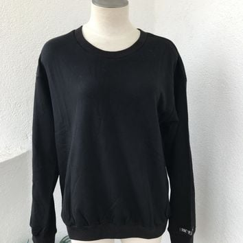 I DONT PLAY NICE SWEATER- BLK