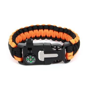 Braided Bracelet Men Paracord Survival Bracelet Outdoor Camping Rescue Emergency Rope Bracelets Bangles For Women Dropshipping