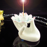 Lotus Bergamot Ceramic Incense Burner