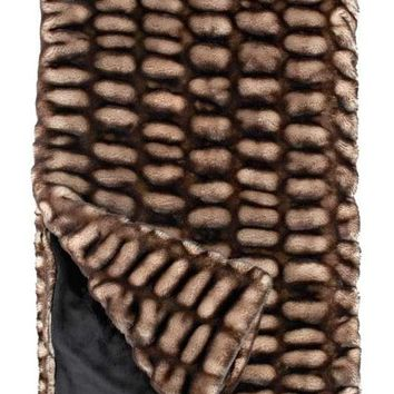 Shadow Mink Couture Faux Fur Throw Blanket by Fabulous Furs