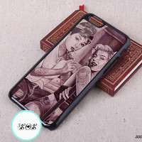 Resin Audrey Hepburn iPhone 5S case tattoo iPhone 5c 4S Marilyn Monroe iPhone 6 plus iPhone 6 case Galaxy S3 S4 S5, Note 2/ 3 - s00022