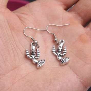 rongji jewelry movie Beauty and the Beast Drop Earrings  for women  Mother's Day for Mather's Day
