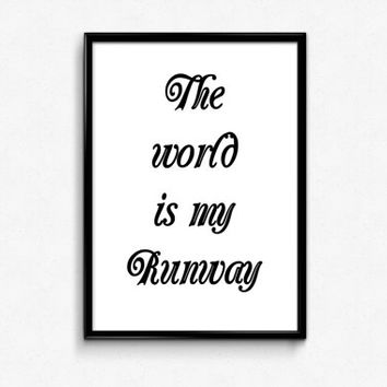 Typography Print - Digital Art Print - 8x10 Poster - Printable Quotes - Wall Decor - Quote Poster