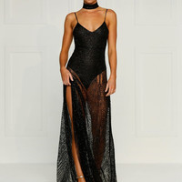 Jewels Gown- BLACK