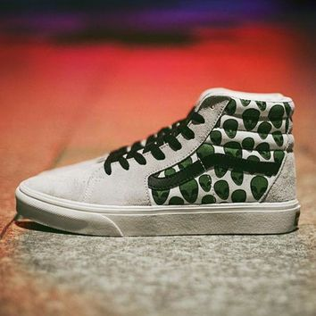Kalete Vans SK8-HI Customs Woman Men Canvas Old Skool Flats Sport Shoes