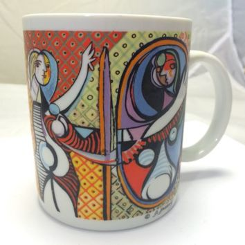 Chaleur Master Cubist Picasso Coffee Mug Cup By D Burrows- Pierrot and Harlequin