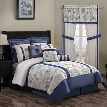 Athena 10-pc. Comforter Set (Blue)