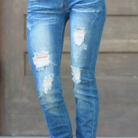 MACHINE JEANS Distressed