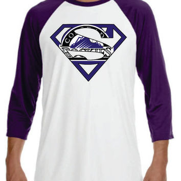 Super Rockies t-shirt Mens Ladies  Youth Very Unique Design 2 Colors Baseball T-shirt
