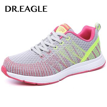 DR.EAGLE Womens Outdoor Sport sneakers women Athletics sports Female Jogging Textile running shoes for women krasovki sneaker