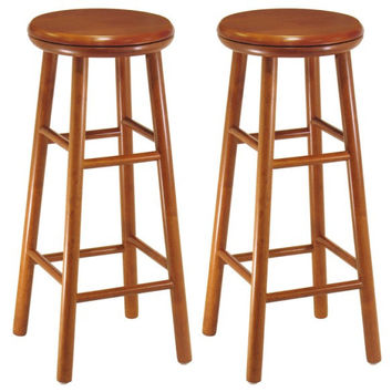 "Set of 2, Swivel Seat, 30"" Stool, Assembled"