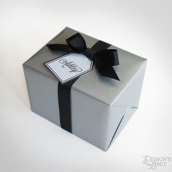 GIFT WRAP - Design's the Limit Gift Wrap Listing including Gift Box, Gift Wrap, Gift Tag, & Bow (Available in Gold, Silver, or Red Colors)