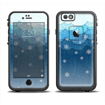 The Snowy Blue Paper Scene Apple iPhone 6 LifeProof Fre Case Skin Set