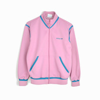 Vintage 70s ADIDAS Track Jacket / 1970s Adidas Pink Jacket  - women's xs/small