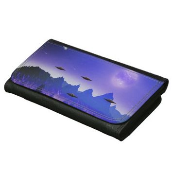 UFO alien galaxies space Wallets