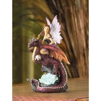 Fairy Maiden Riding Dragon Figurine