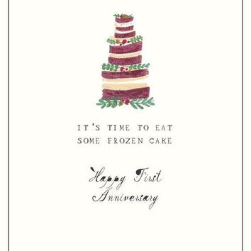 Frozen Cake First Anniversary Card