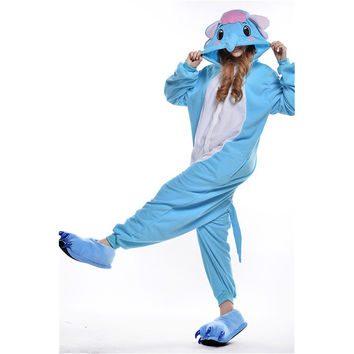 Unisex Adult Pajamas  Cosplay Costume Animal Onesuit Sleepwear Suit  Elephant