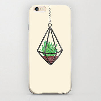 Succulent iPhone 6 Case Hanging Cacti Cactus Plant Pot Lovely Gift Idea Beige Color iPhone 6 Cases Phone Covers Unique iPhone Cases Apple