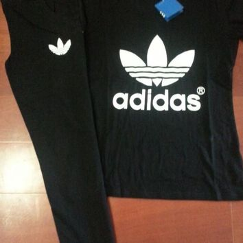 Adidas Fashion Running Sport Shirt Pants Set Two-Piece Sportswear