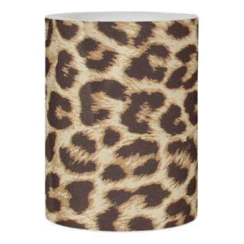 Leopard Print Flameless Candle