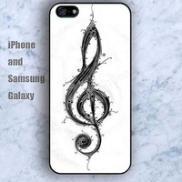 Musical notation wooden colorful iPhone 5/5S Ipod touch Silicone Rubber Case, Phone cover