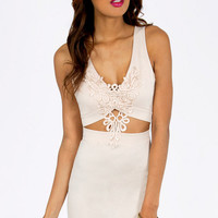 In Too Deep V Bodycon Dress $37
