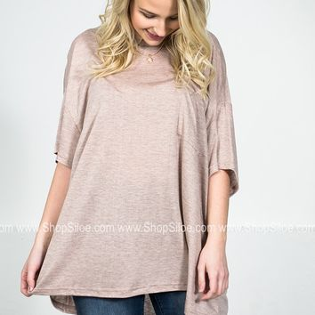 Oversize Adele Taupe Top