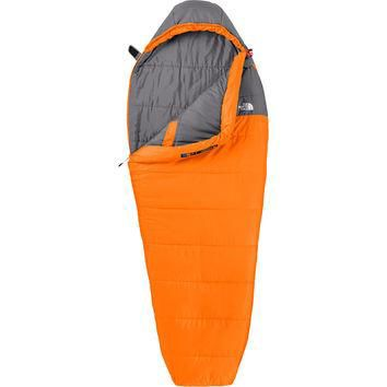 The North Face Aleutian Sleeping Bag: 35 Degree Synthetic Russet Orange/Zinc Grey,