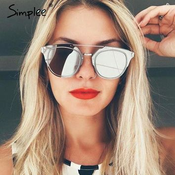 Simplee Cool photochromic sunglasses women Vintage colorful mirror sun glasses Alloy frame sun glasses female